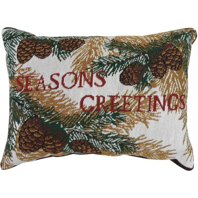 Branchville Seasons Greetings Tapestry Lumbar Pillow