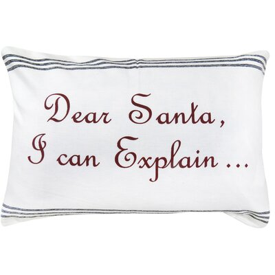 Ariade Dear Santa 100% Cotton Lumbar Pillow