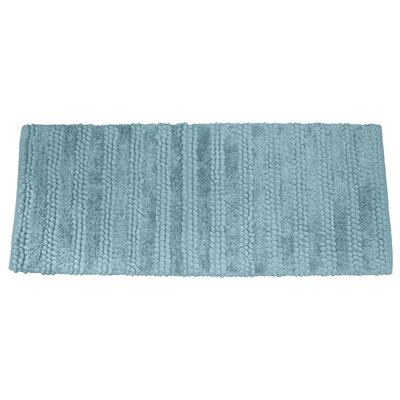 Nery Luxury Stripe Bath Rug Size: 21 W x 34 L, Color: Aquamarine