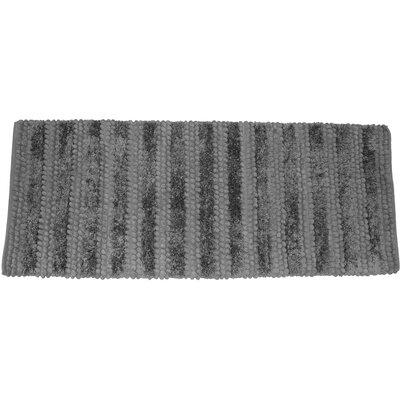 Nery Luxury Stripe Bath Rug Size: 17 W x 24 L, Color: Gray