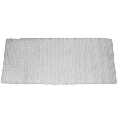 Nery Luxury Stripe Bath Rug Size: 24 W x 60 L, Color: White
