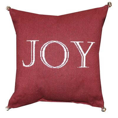 Vintage House Joy With Bells Throw Pillow