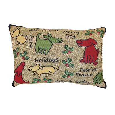 Vintage House Merry Dog Lumbar Pillow