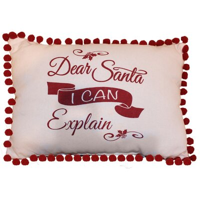 Vintage House Santa I Can Explain 100% Cotton Lumbar Pillow
