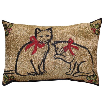 Vintage House Kitty Present Lumbar Pillow