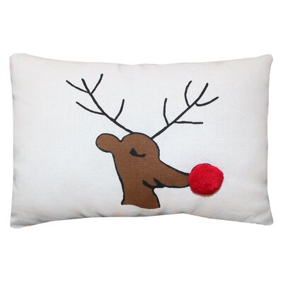 Vintage House Rudolph 100% Cotton Lumbar Pillow