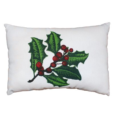 Vintage House Ivy Berries 100% Cotton Lumbar Pillow
