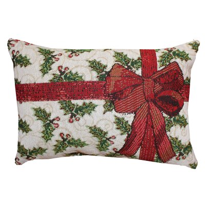 Vintage House Holly Present Lumbar Pillow