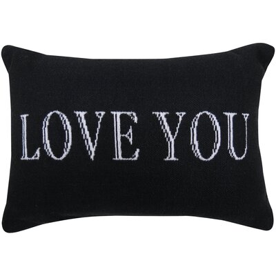Love You Tapestry Decorative Lumbar Pillow Size: 12 H x 18 W