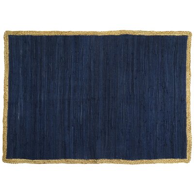 Arbor Lake Hand Woven Cotton Indigo Area Rug