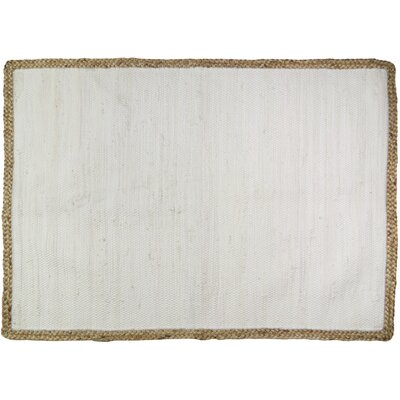 Arbor Lake Hand Woven Cotton Light Gray Area Rug
