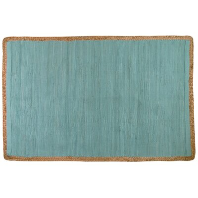 Arbor Lake Hand Woven Cotton Seaspray Area Rug