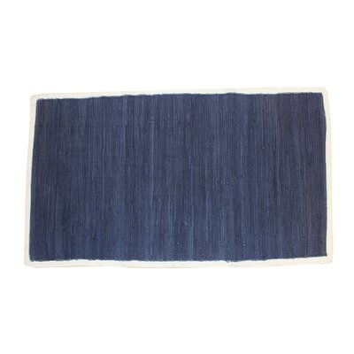 Cordero Hand-Woven Cotton Navy Area Rug