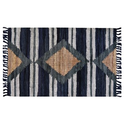 Monterey Hand-Woven Cotton Blue Area Rug