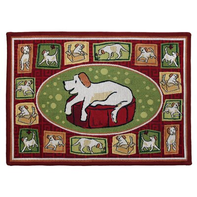 PB Paws & Co. Rich Aroma Dogs Life Tapestry Area Rug Rug Size: 17 x 23