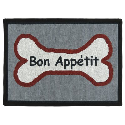 PB Paws & Co. Multi Bone Appetit Tapestry Area Rug Rug Size: 11 x 17