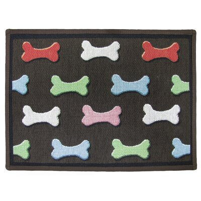 PB Paws & Co. Multi Bone Collection Tapestry Area Rug Rug Size: Rectangle 11 x 17