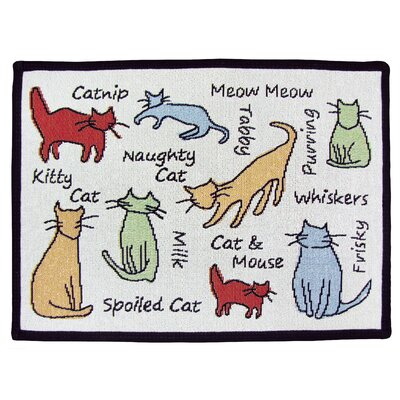 PB Paws & Co. Multi Cat Show Tapestry Area Rug Rug Size: 11 x 17