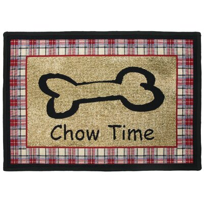 PB Paws & Co. Multi Chow Time Tapestry Area Rug Rug Size: Rectangle 11 x 17
