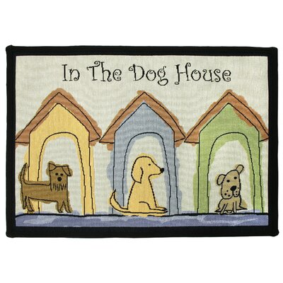 PB Paws & Co. Multi Dog Houses Tapestry Indoor/Outdoor Area Rug Rug Size: 11 x 17