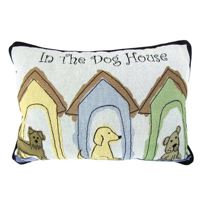 PB Paws & Co.Dog Houses Lumbar Pillow