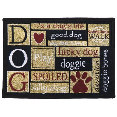 Leishman I Love Dogs Tapestry Area Rug Rug Size: Rectangle 11 x 17