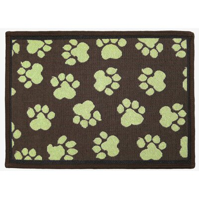 PB Paws & Co. Woodland / Green World Paws Tapestry Indoor/Outdoor Area Rug Rug Size: 17 x 11