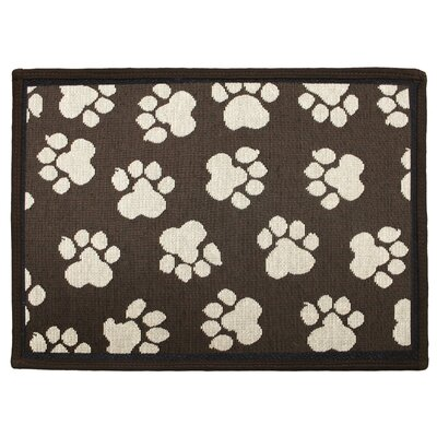 PB Paws & Co. Woodland / Ivory World Paws Tapestry Area Rug Rug Size: 17 x 11