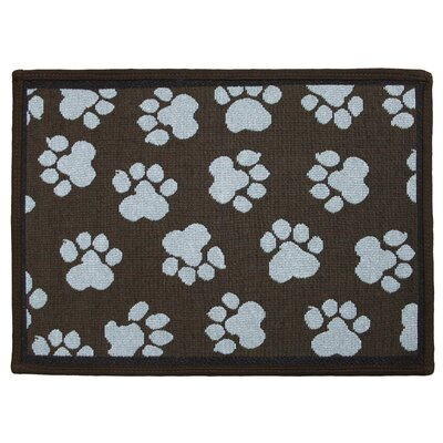 PB Paws & Co. Woodland / Sea Spray World Paws Tapestry Area Rug Rug Size: Rectangle 17 x 11