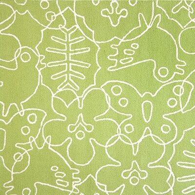 Season Lotus Green/White Area Rug Rug Size: Rectangle 4 x 5