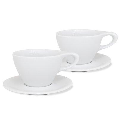 notNeutral LINO 12 oz. Latte Cup & Saucer 01501550