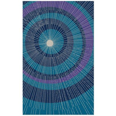 Eccentric Hand-Tufted Blue Area Rug Rug Size: Rectangle 5 x 8