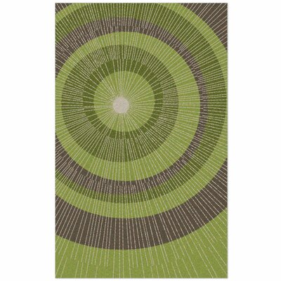 Eccentric Hand-Tufted Green/Sable Area Rug Rug Size: 5 x 8
