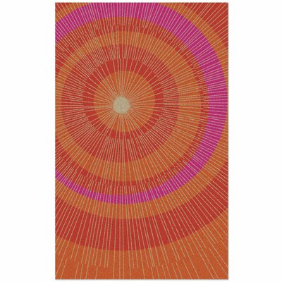 Eccentric Hand-Tufted Orange/Red Area Rug Rug Size: 5 x 8
