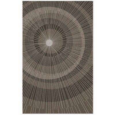 Eccentric Brown/Tan Area Rug Rug Size: 5 x 8