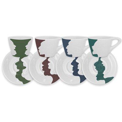 notNeutral 4 Piece Face/Vase Espresso Set 01502001