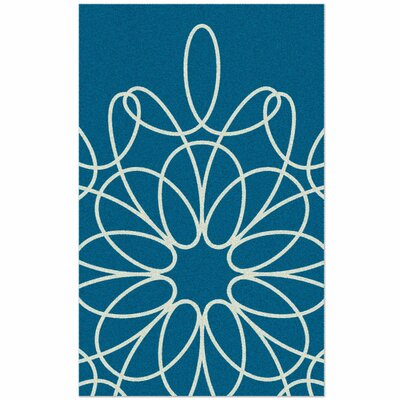 Ribbon Hand-Tufted Turquoise Area Rug Rug Size: Rectangle 5 x 8