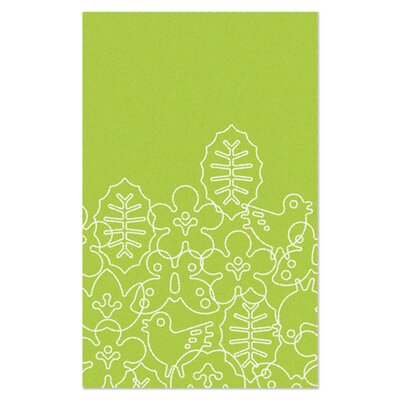 Season Lotus Green/White Area Rug Rug Size: Rectangle 5 x 8