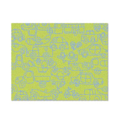 Kids Transport Green/Ozone Blue Area Rug Rug Size: Rectangle 4 x 5