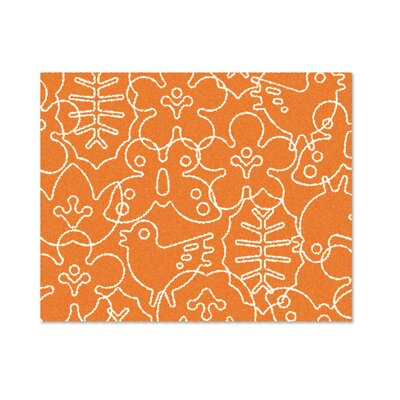 Season Persimmon Orange/White Area Rug Rug Size: 4 x 5