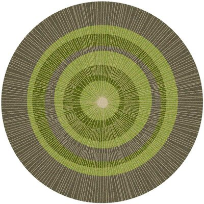 Eccentric Hand-Tufted Green/Sable Area Rug Rug Size: 8 x 8