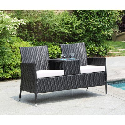 Seaside Settee with Armrest Table