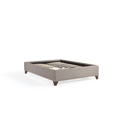 Paris Platform Bed Upholstery Color: Gray, Size: California King