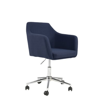 Antle Upholstered Office Chair Color: Midnight