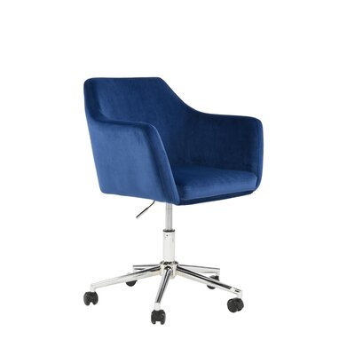 Antle Upholstered Office Chair Color: Sapphire