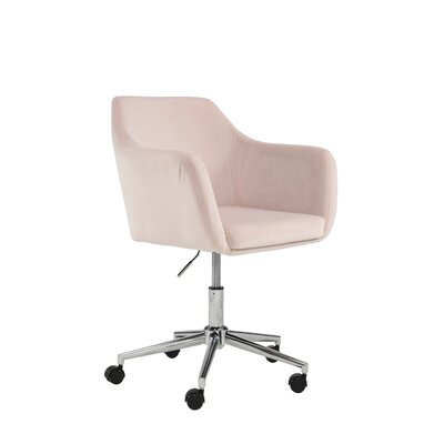 Antle Upholstered Office Chair Color: Blush
