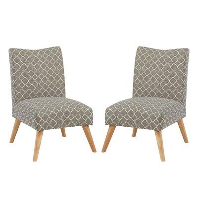 Beachmont Slipper Chair Upholstery: Gray Lattice