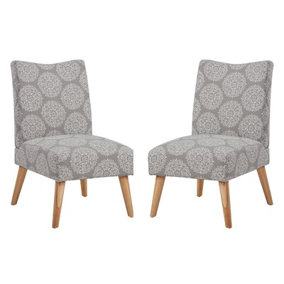 Jake Upholstered Parsons Chair Color: Stone Medallion