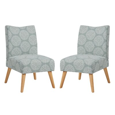 Jake Upholstered Parsons Chair Color: Sky Medallion