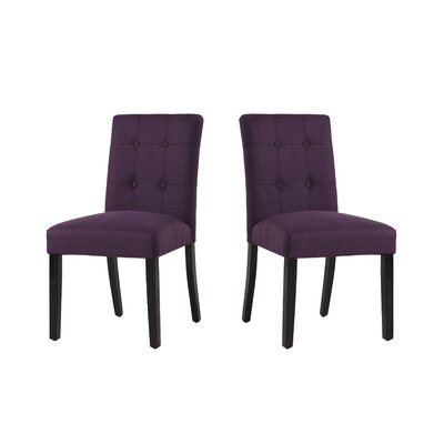 Marie-Anne Contemporary Upholstered Dining Chair Upholstery: Aburgine